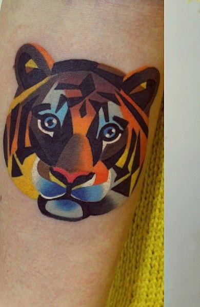 Татуировка тигр и ее эскиз