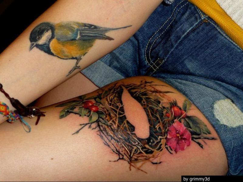 Татуировка синица