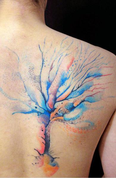 Татуировка дерево