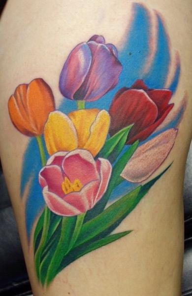 Татуировка японский цветок