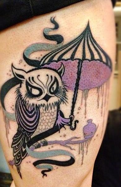 Татуировка зонт