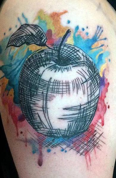 Татуировка в стиле акварель