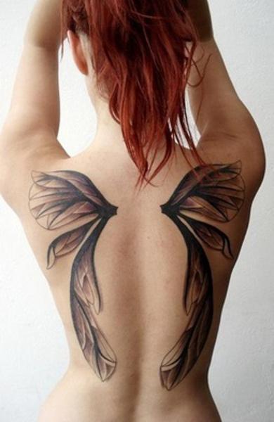 эскиз татуировка крылья