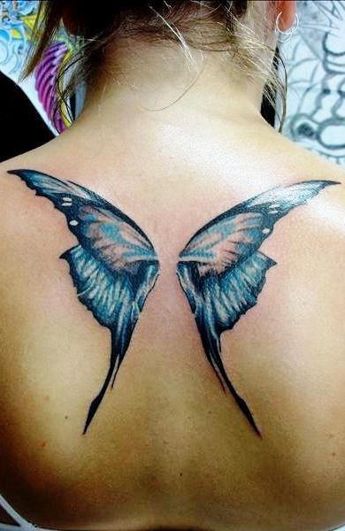 Таутировка крылья