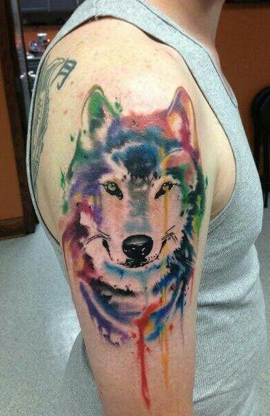 Татуировка волк