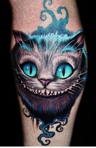 Татуировка Чеширский кот