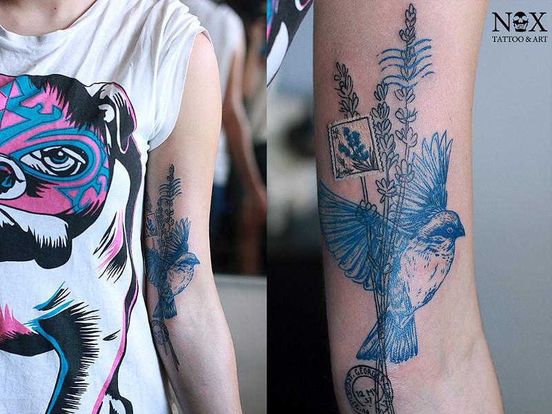 Татуировка на руке от Matty Nox
