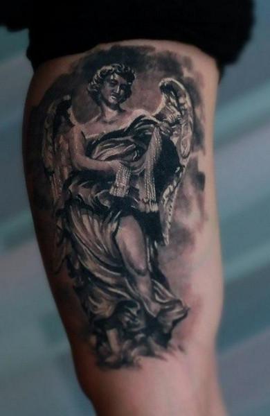 эскиз татуировка ангел