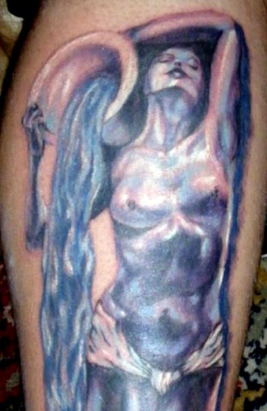 Татуировка знак зодиака водолей