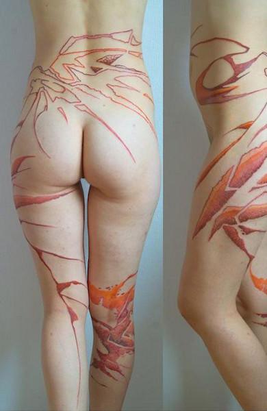 Татуировка на попе