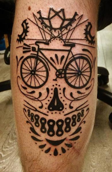 Татуировка велосипед