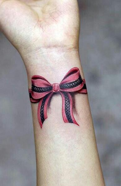 эскиз татуировка бантик