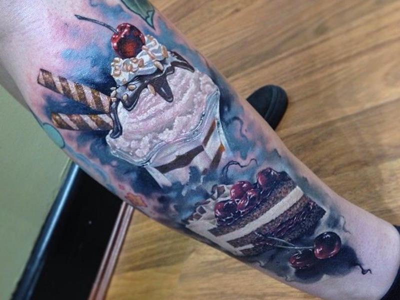 Татуировка пирожное