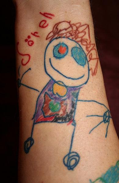 Татуировка из детского рисунка