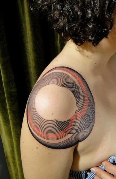 эскиз татуировка круг