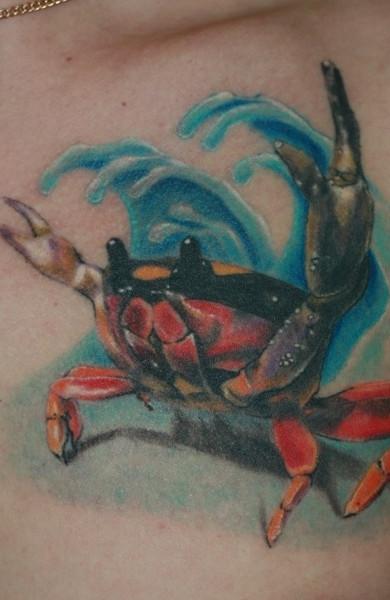 Татуировка краб