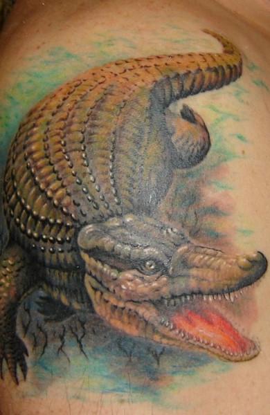 Татуировка крокодил