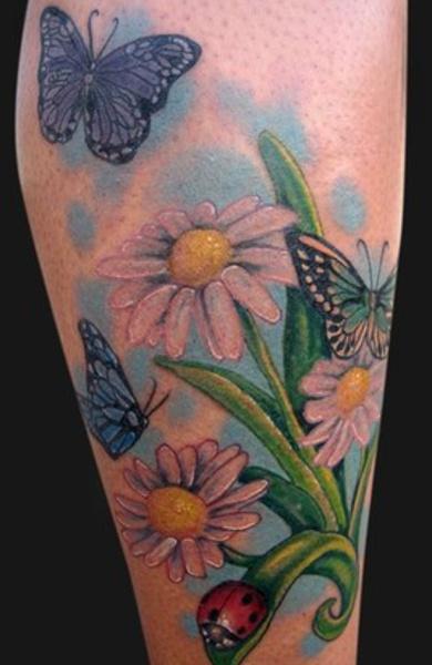 Татуировка ромашка