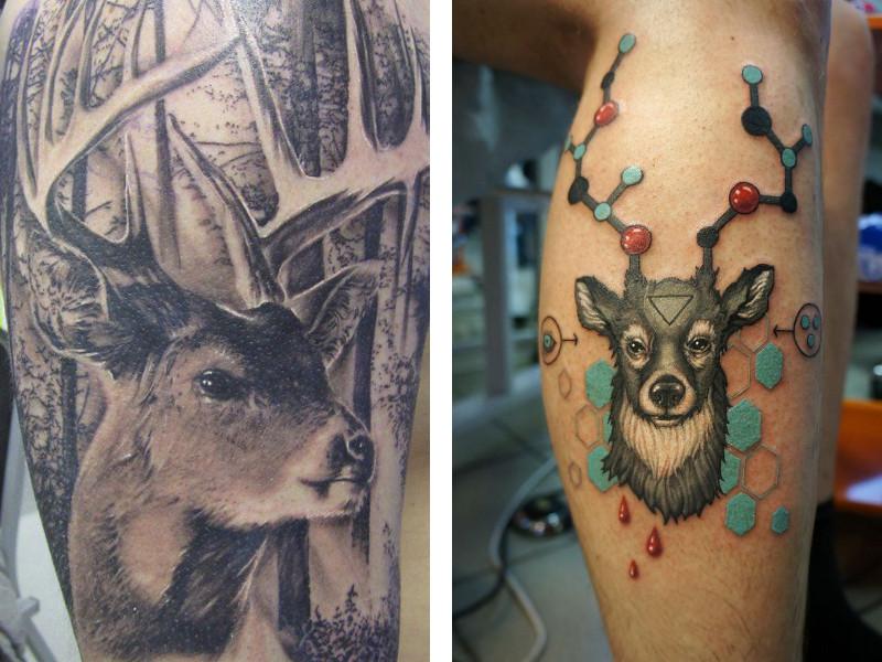 Татуировка олень и ее значение