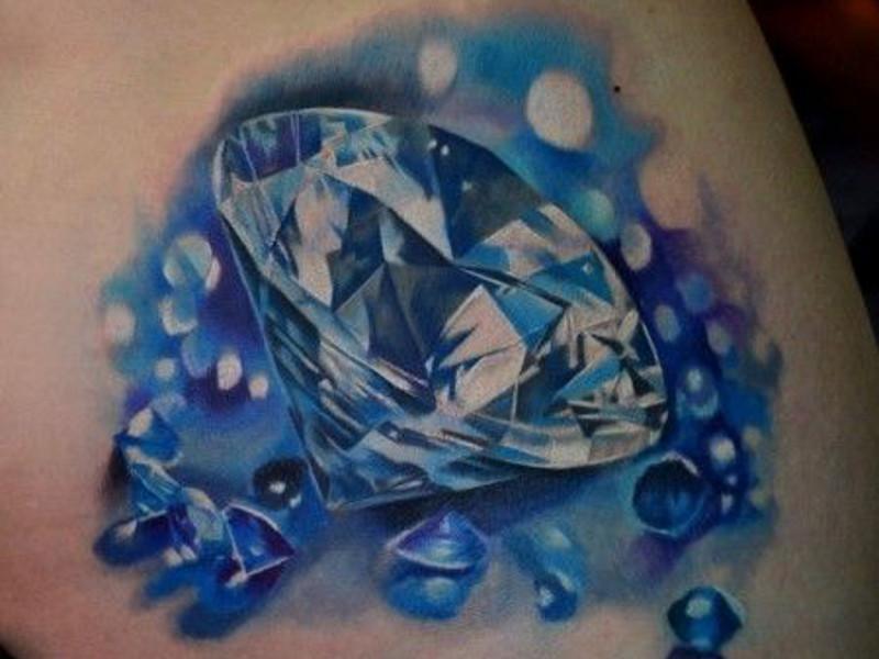 эскиз татуировка алмаз и ее значение