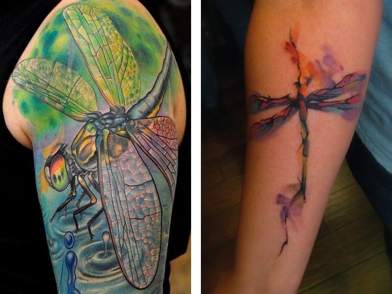 Эскиз татуировка стрекоза и ее значение