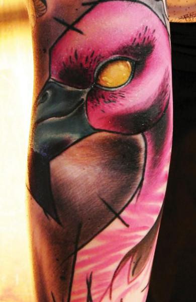 Татуировка фламинго