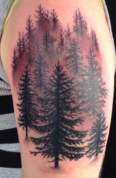 Татуировка лес