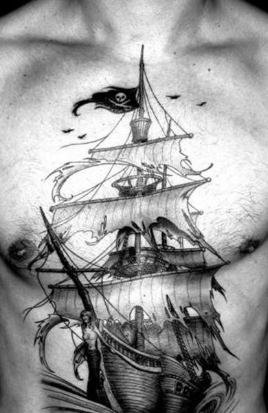 Татуировка фрегат