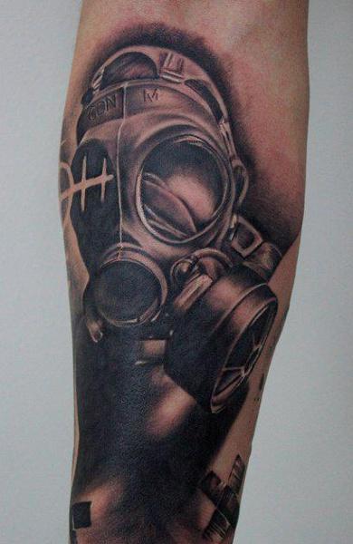 Татуировка противогаз
