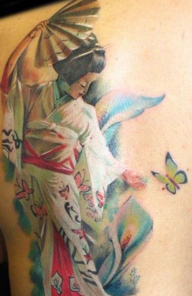 Татуировка гейша