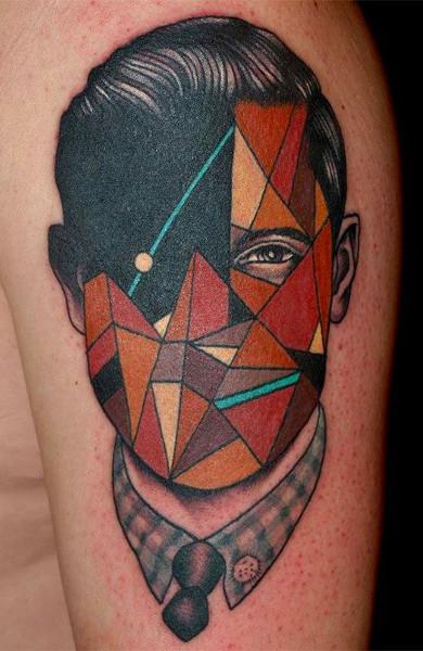 Татуировка в стиле геометрия