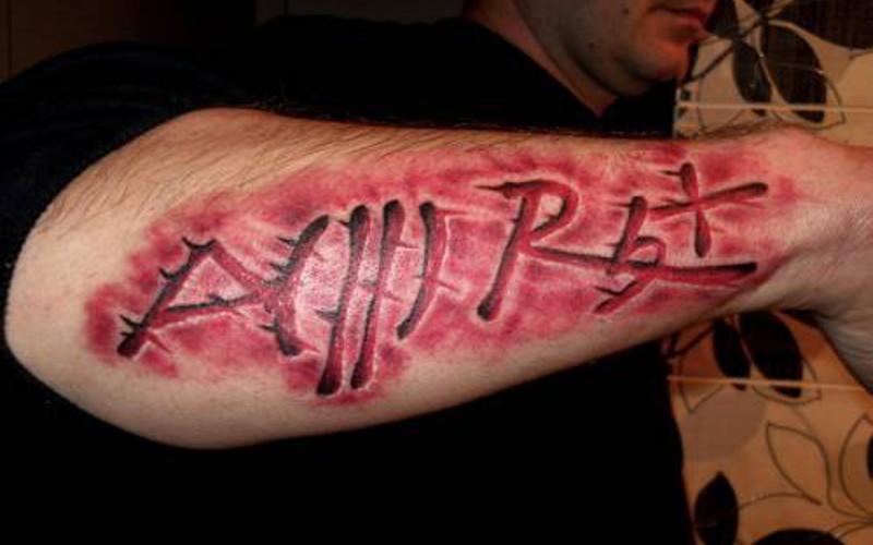 Татуировка группа крови