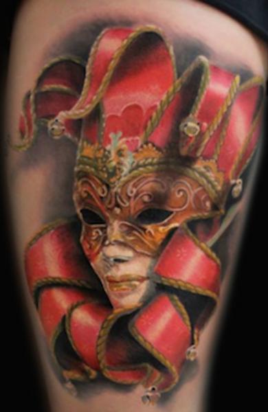 Татуировка арлекин
