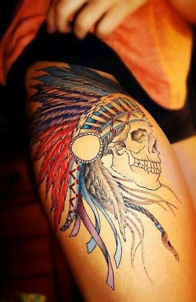 Татуировка индеец