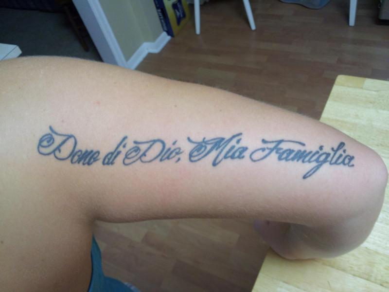 Фразы на итальянском для татуировки