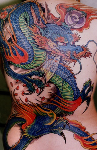 Татуировка японский дракон