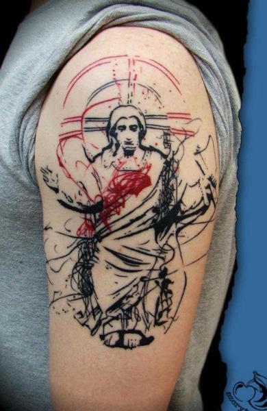 Татуировка Иисус