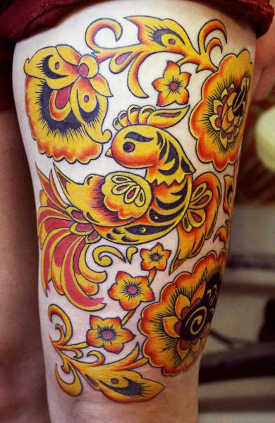 Татуировка хохлома