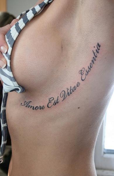 Татуировка фраза на латыни