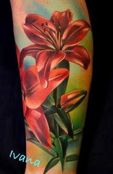 Татуировка лилия