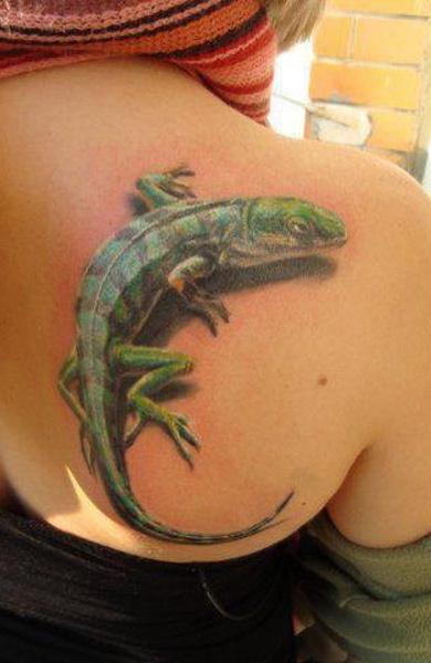 эскиз татуировка ящерица