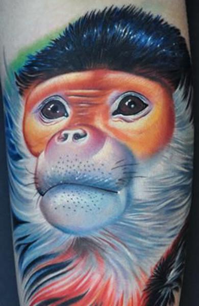 Татуировка обезьяна