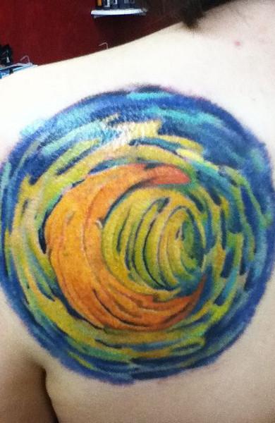 эскиз татуировка месяц