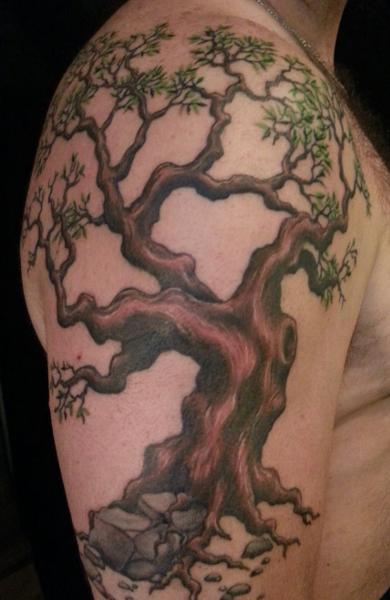 Татуировка дуб