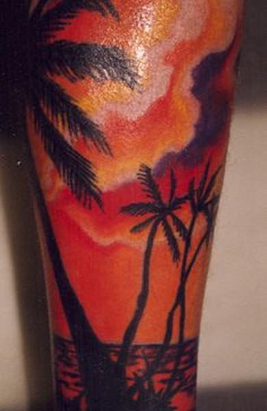 Татуировка пальма