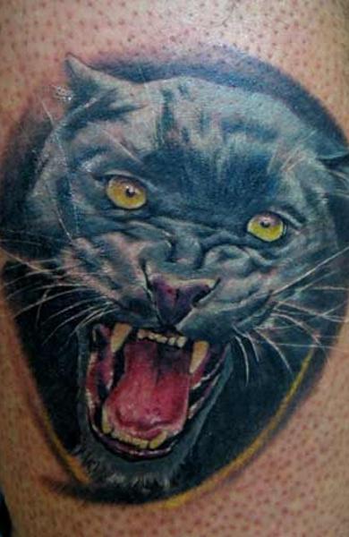 эскиз татуировка пантера
