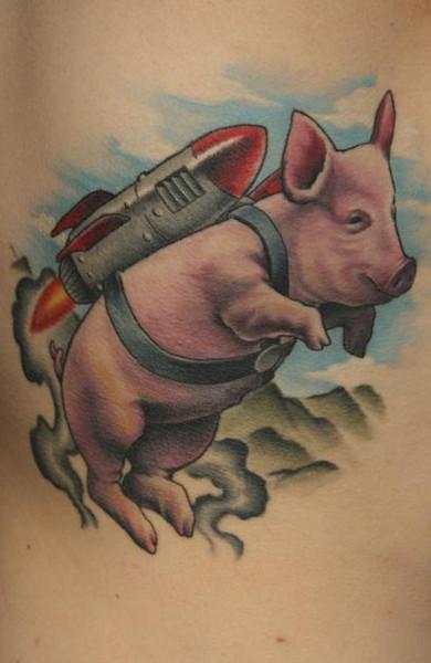 Татуировка свинья