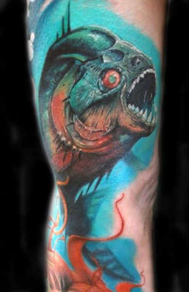 Татуировка пиранья