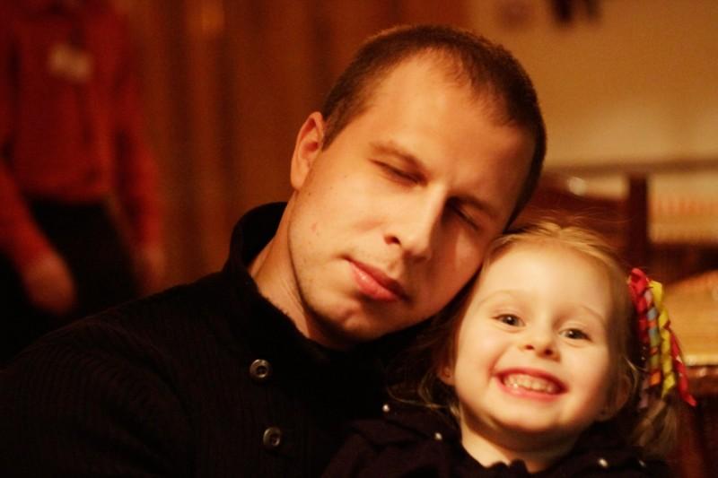 Алексей Платунов и его дочь Маша