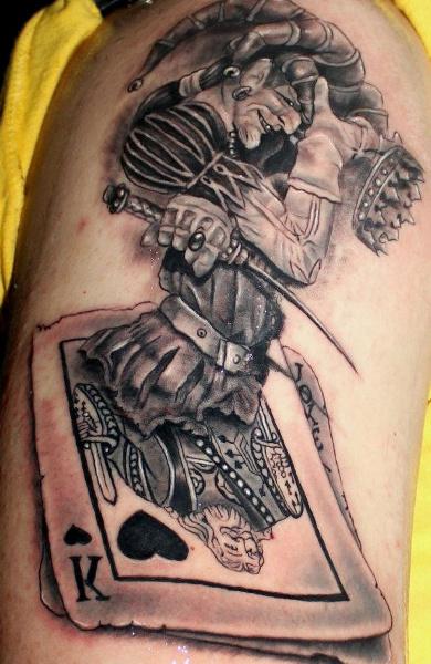 эскиз татуировка игральные карты